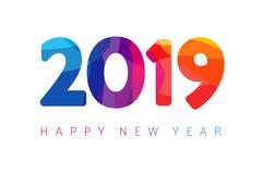 2019, Szczęśliwi nowego roku xmas powitania Obraz Stock