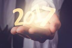 Szczęśliwi nowi 2017 biznesowych rok Zdjęcie Stock