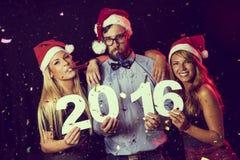 Szczęśliwi nowi 2016 rok Obrazy Royalty Free
