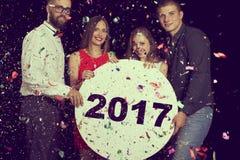 Szczęśliwi nowi 2017 rok Fotografia Royalty Free