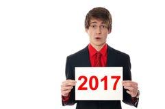 Szczęśliwi nowi 2017 rok fotografia stock