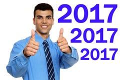 Szczęśliwi nowi 2017 rok Zdjęcia Stock