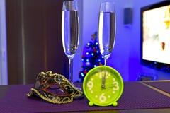 Szczęśliwi nowy rok świętowania Obrazy Royalty Free