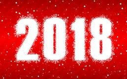 Szczęśliwi 2018 nowy rok Zdjęcia Royalty Free
