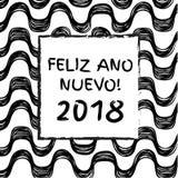 Szczęśliwi 2018 nowy rok Fotografia Royalty Free