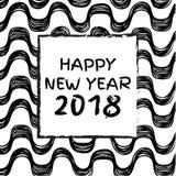 Szczęśliwi 2018 nowy rok Obraz Stock
