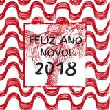 Szczęśliwi 2018 nowy rok Fotografia Stock