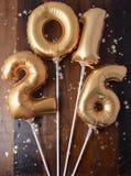 Szczęśliwi 2016 nowy rok balony Obrazy Royalty Free