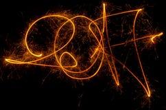 Szczęśliwi nowy rok inskrypci 2017 sparklers Fotografia Stock