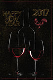 Szczęśliwi nowy rok powitania Obrazy Stock