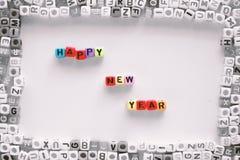 SZCZĘŚLIWI nowy rok sformułowania zdjęcie stock