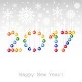 2017 Szczęśliwi nowy rok tło z Bożenarodzeniowym b lub kartka z pozdrowieniami Obrazy Stock