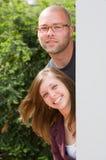 szczęśliwi par potomstwa zdjęcia stock