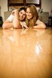 szczęśliwi par potomstwa Obraz Royalty Free