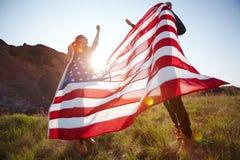 Szczęśliwi patriota obraz royalty free