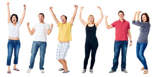 Szczęśliwi różnorodni ludzie Fotografia Royalty Free