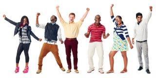 Szczęśliwi różnorodni ludzie Fotografia Stock