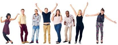 Szczęśliwi różnorodni ludzie Obraz Royalty Free