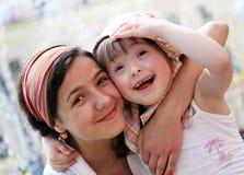 Szczęśliwi rodzinni momenty obrazy stock