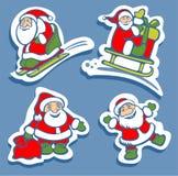 Szczęśliwi Santas Fotografia Royalty Free