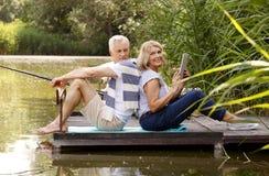 Szczęśliwi starsi ludzie Zdjęcia Royalty Free