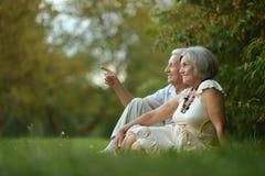 szczęśliwi starzy ludzie Obrazy Royalty Free