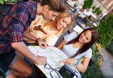 Szczęśliwi turyści Fotografia Stock