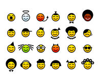 szczęśliwi twarzy smileys ilustracja wektor