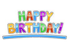 szczęśliwi urodzinowi graffiti Zdjęcie Royalty Free