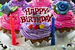 szczęśliwi urodzinowi torty Obraz Stock