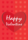 Szczęśliwi valentine tła Obrazy Stock