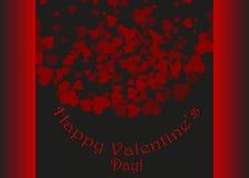 Szczęśliwi valentines dnia i pielenie projekta elementy również zwrócić corel ilustracji wektora Czarny tło Z ornamentami, sercam ilustracja wektor