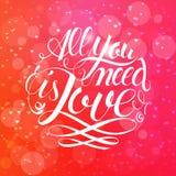 Szczęśliwi valentines dnia i pielenie projekta elementy również zwrócić corel ilustracji wektora Różowy tło Z ornamentami, serca  obraz stock