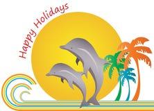 szczęśliwi wakacje Zdjęcie Stock