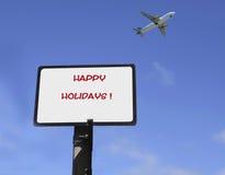 Szczęśliwi wakacje Obraz Royalty Free