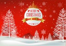 Szczęśliwi Wesoło boże narodzenia i szczęśliwi nowy rok kamraci Zdjęcia Stock