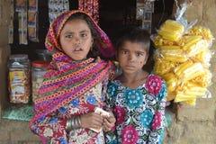 Szczęśliwi wiejscy hindusów dzieciaki obrazy stock