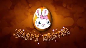 Szczęśliwi Wielkanocni animacja tytułu przyczepy 30 FPS bąble złoci ilustracja wektor