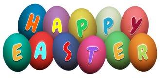 Szczęśliwi Wielkanocni jajka ilustracji