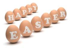 Szczęśliwi Wielkanocni jajka Obrazy Stock