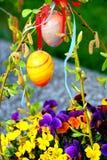 Szczęśliwi Wielkanocni jajka fotografia royalty free