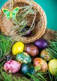Szczęśliwi Wielkanocni jajka Obraz Stock
