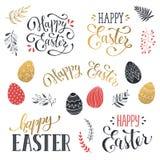 Szczęśliwi Wielkanocni sformułowania royalty ilustracja