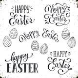 Szczęśliwi Wielkanocni sformułowania ilustracja wektor