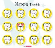 szczęśliwi zęby Obrazy Royalty Free