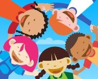 szczęśliwi zbliżenie dzieciaki Fotografia Royalty Free