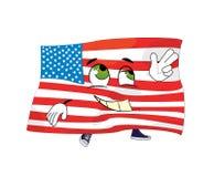 Szczęśliwi zlani stany America kreskówka Obrazy Stock