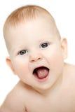 Szczęśliwy śliczny roześmiany dziecko Pozytywny uśmiechnięty dziecko uśmiecha się dziecko Obraz Stock