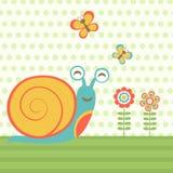 Szczęśliwy ślimaczek Fotografia Royalty Free