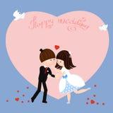 szczęśliwy ślub Fotografia Royalty Free